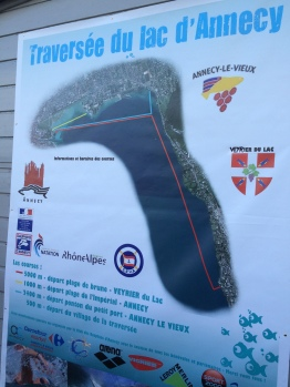 Lake Annecy Swim Race Map. Source: Courtenay Verret