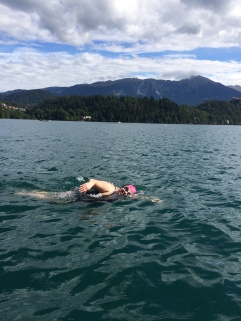 Swimming Slovenia's Lake Bled. Source: Courtenay Verret